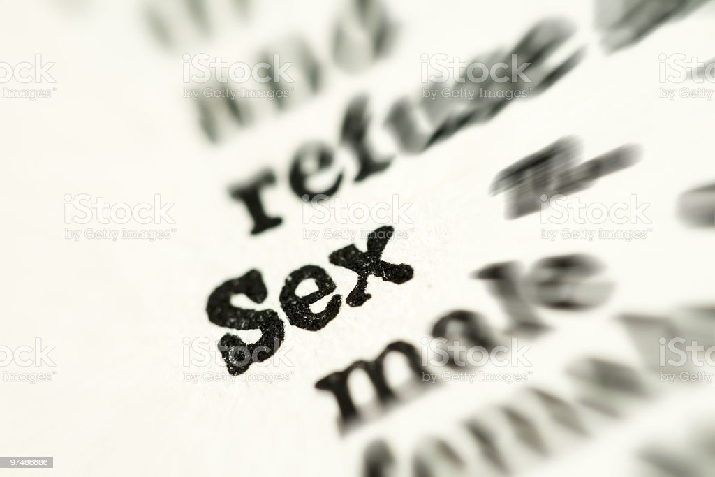 Sex word in dictionary royalty-free stock photo