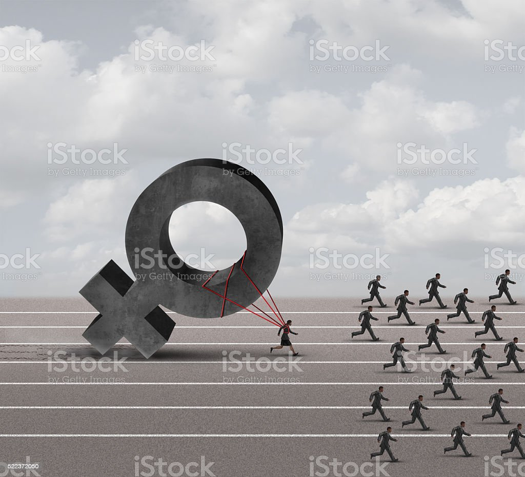 Sexism Discrimination stock photo