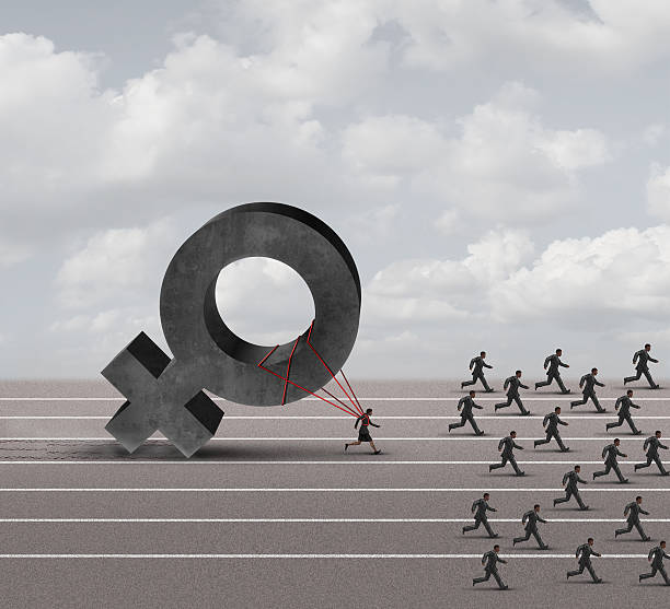 sexism discrimination - uneven stock photos and pictures