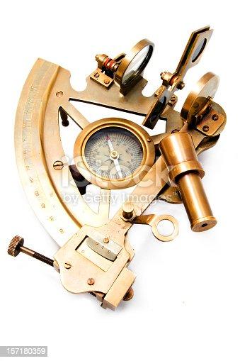 metal sextant