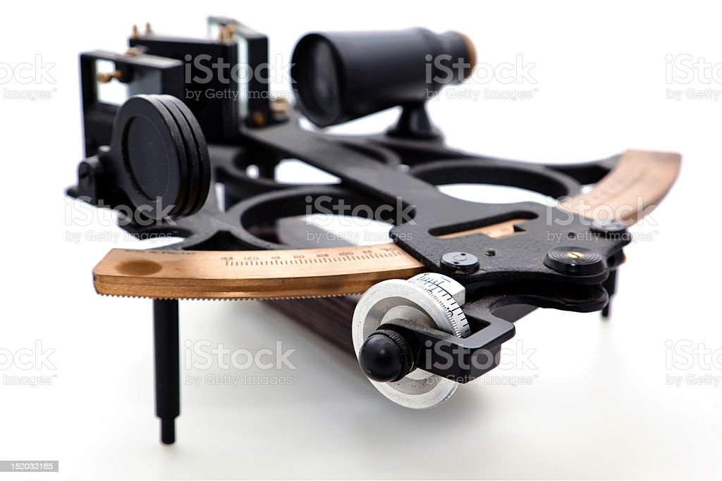 Sextant isolated royalty-free stock photo
