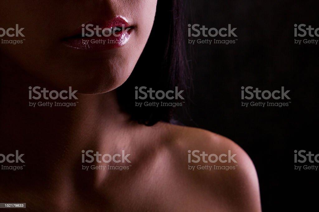 Sexual female lips stock photo