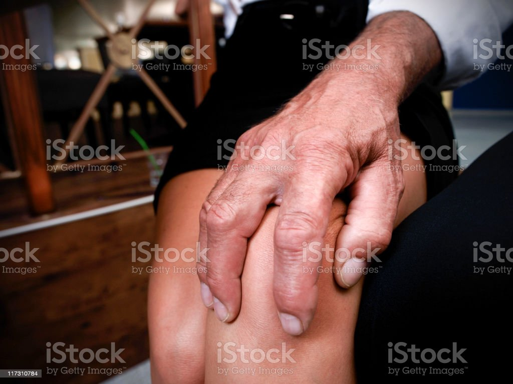 Sexual harassment at work royalty-free stock photo