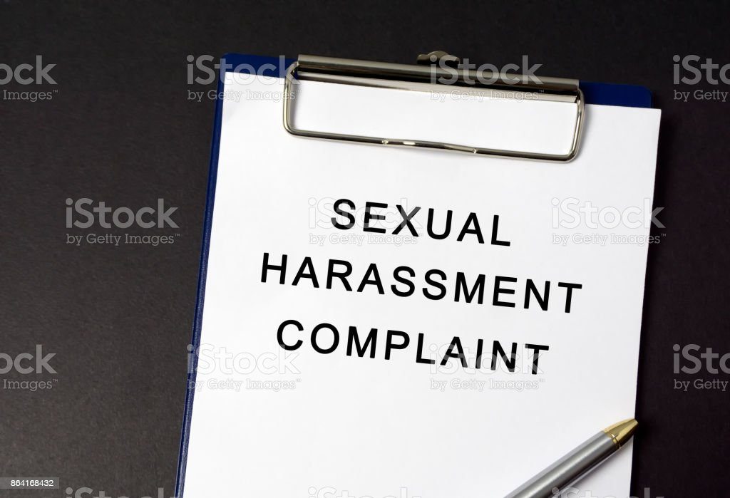 Sexual Harassment Complaint on Paper royalty-free stock photo