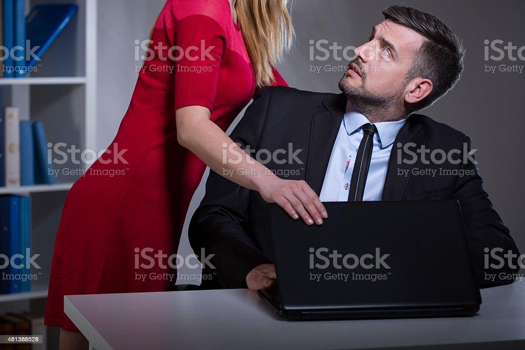 Molestie sessuali sul posto di lavoro - foto stock