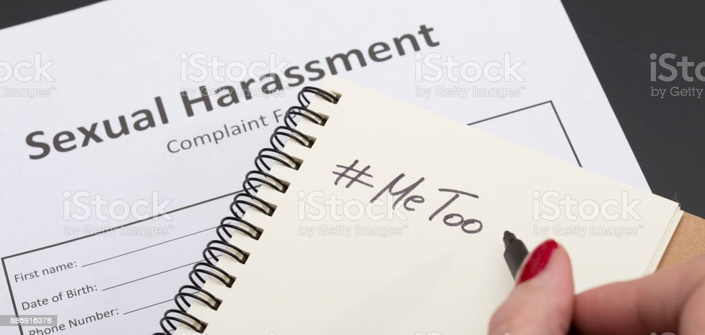 Sexual Harassment #Me Too stock photo