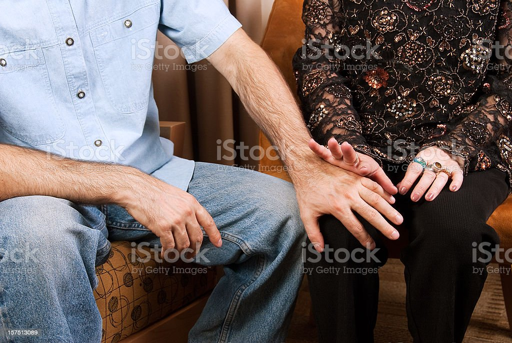 Sexual harrassment - inappropriate and unwanted advances stock photo