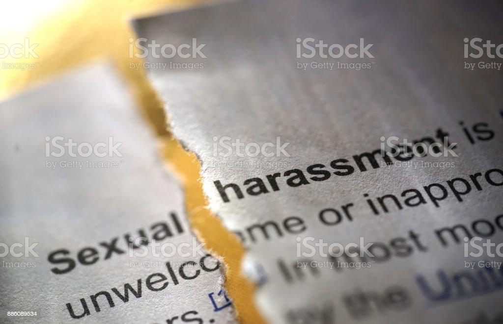 sexual harrassment stock photo