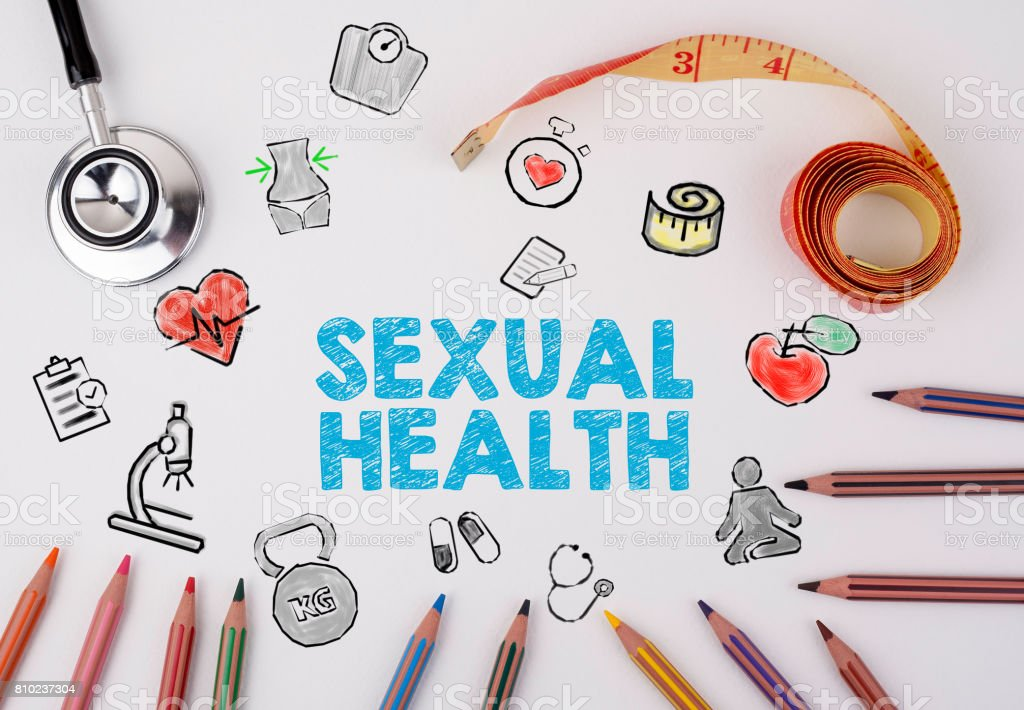 Sexual Health concept. Healty lifestyle background stock photo