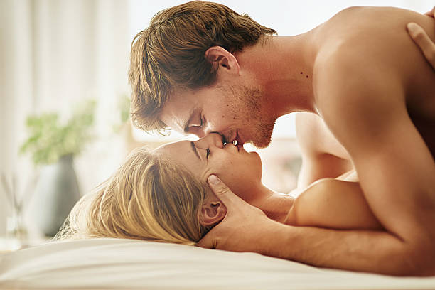 Sexual intimacy meets emotional intimacy stock photo