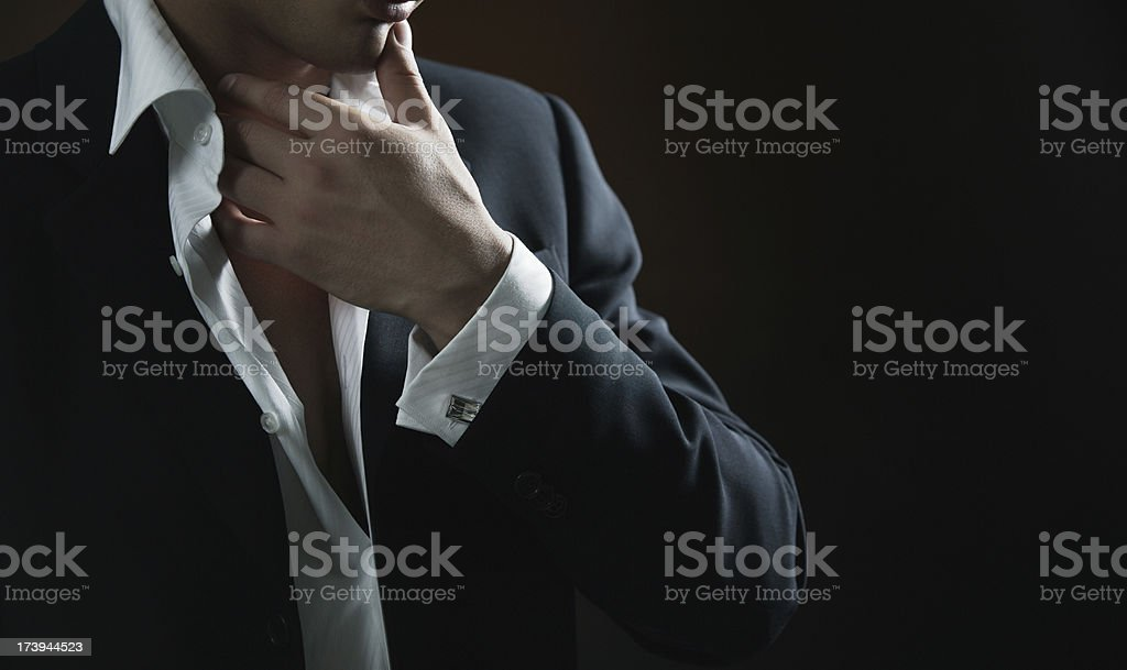 Sexual man thinks stock photo