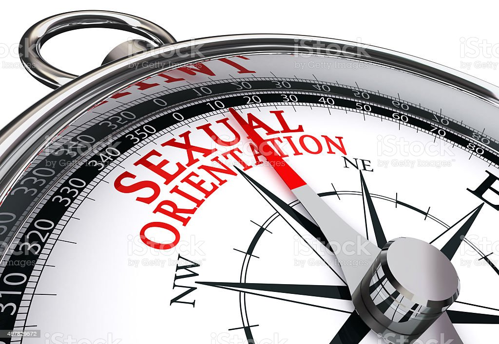 sexual orientation concept compass stock photo