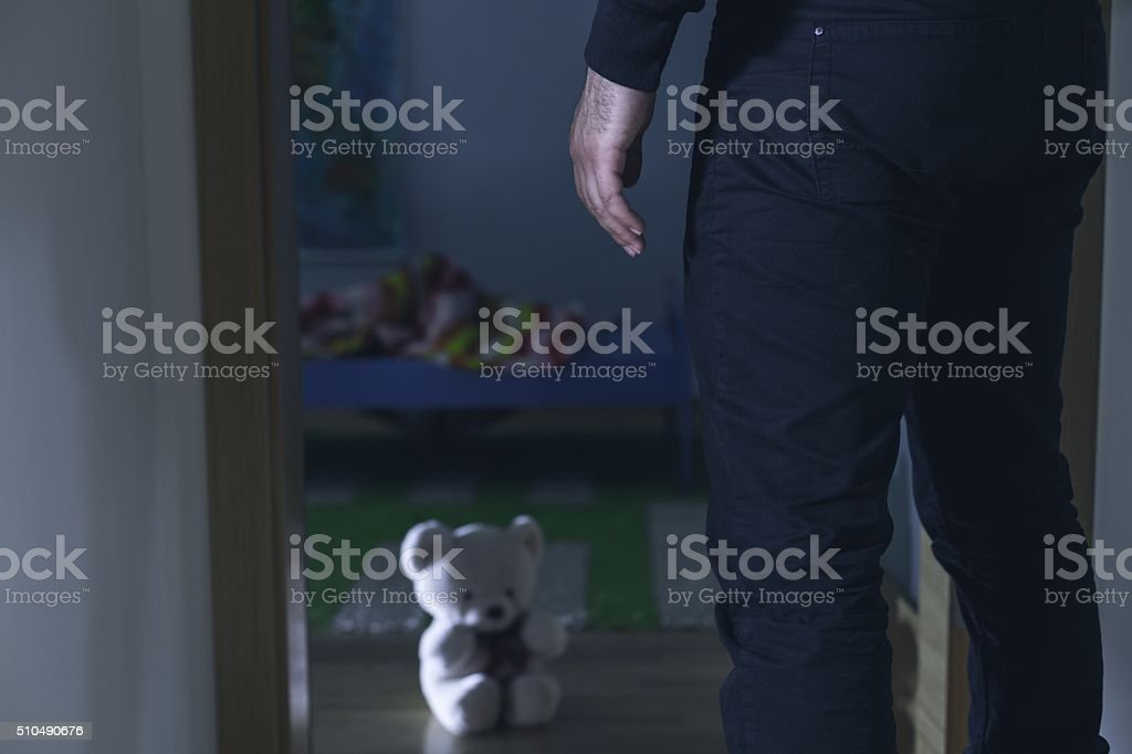 Sexual violence against child stock photo