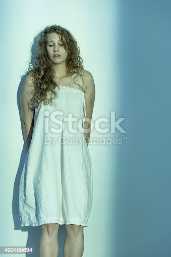 istock Sexually abused woman 492455694
