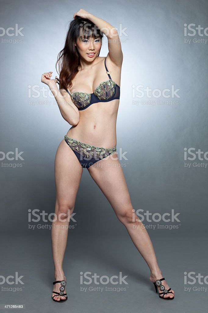 Sexy asian lingerie model - Stock image .