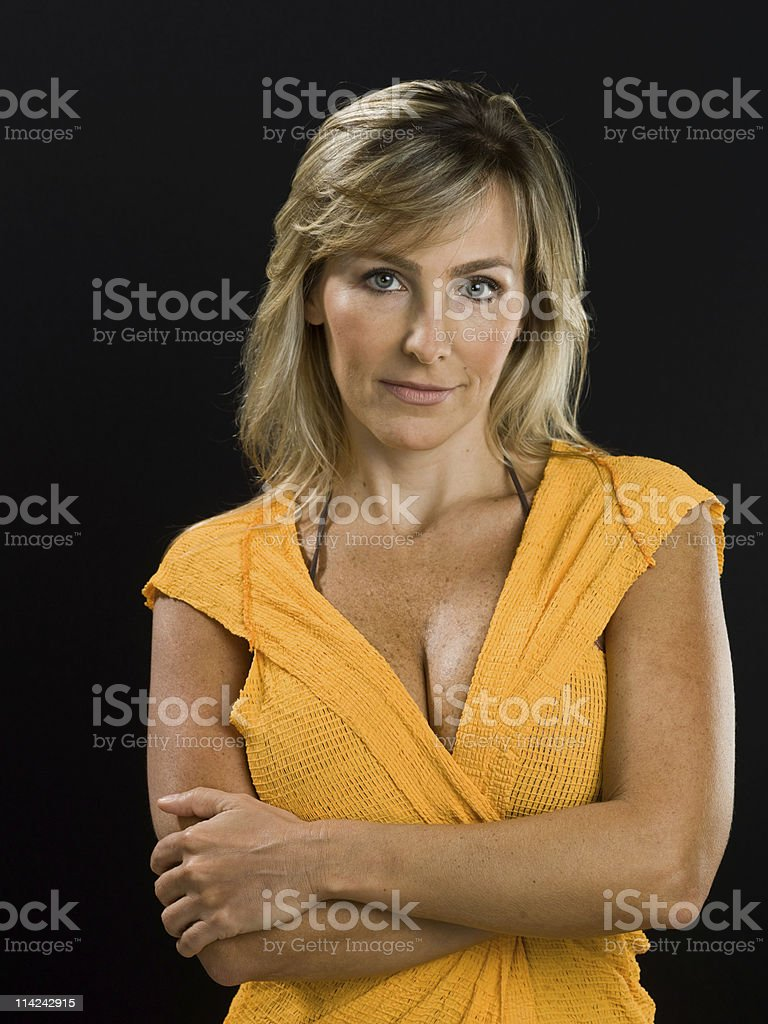 Sexy at her forties stock photo