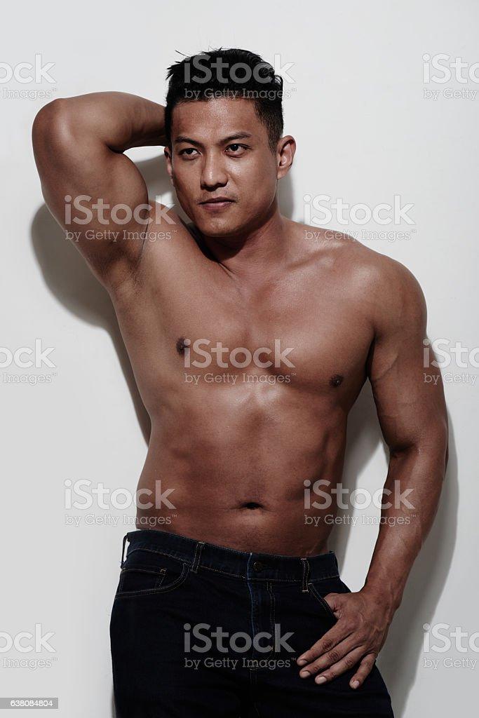 Sexy athlete stock photo