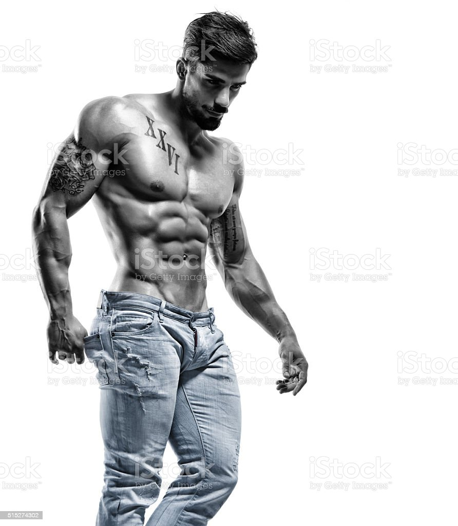 Sexy Athletic Male Model stock photo