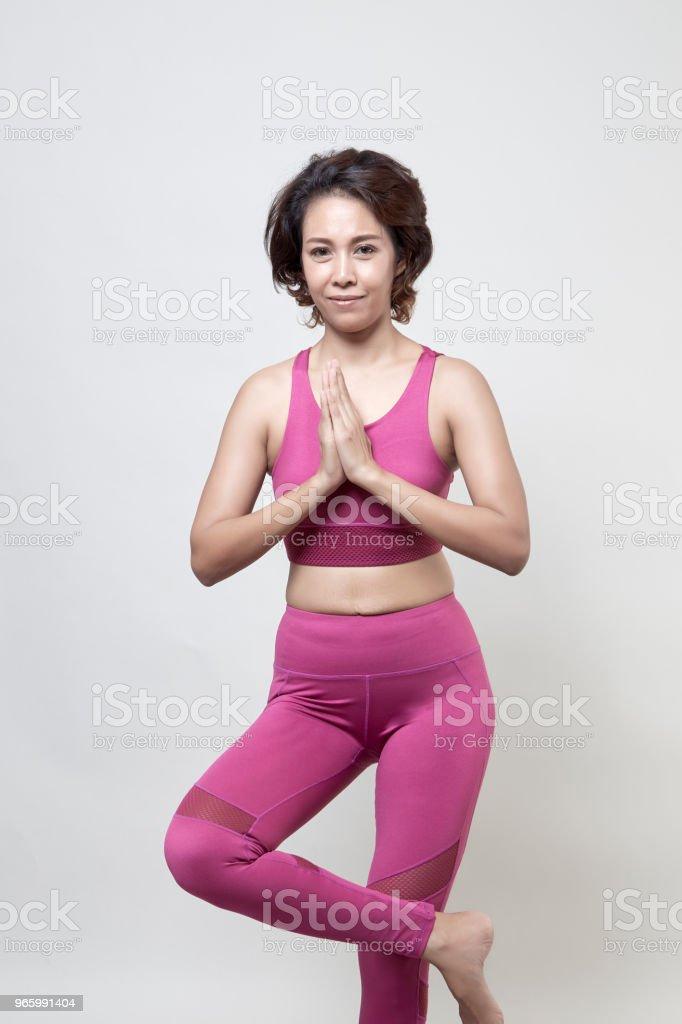 Sexy Back of sporty woman Fitness Model - Royalty-free Adulto Foto de stock