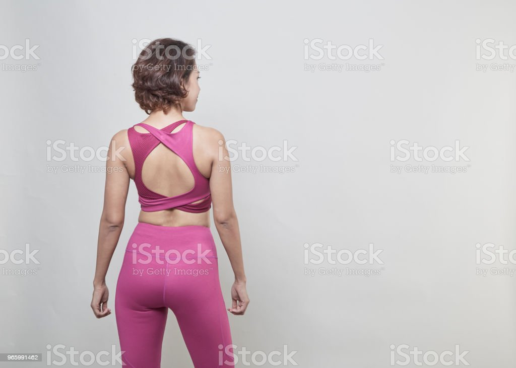 Sexy Back of sporty woman Fitness Model - Royalty-free Activity Stock Photo