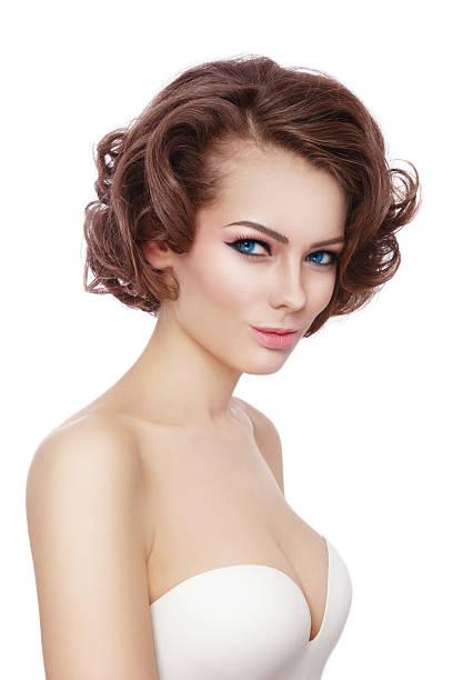 sexy schönheit - lustige augenbrauen stock-fotos und bilder