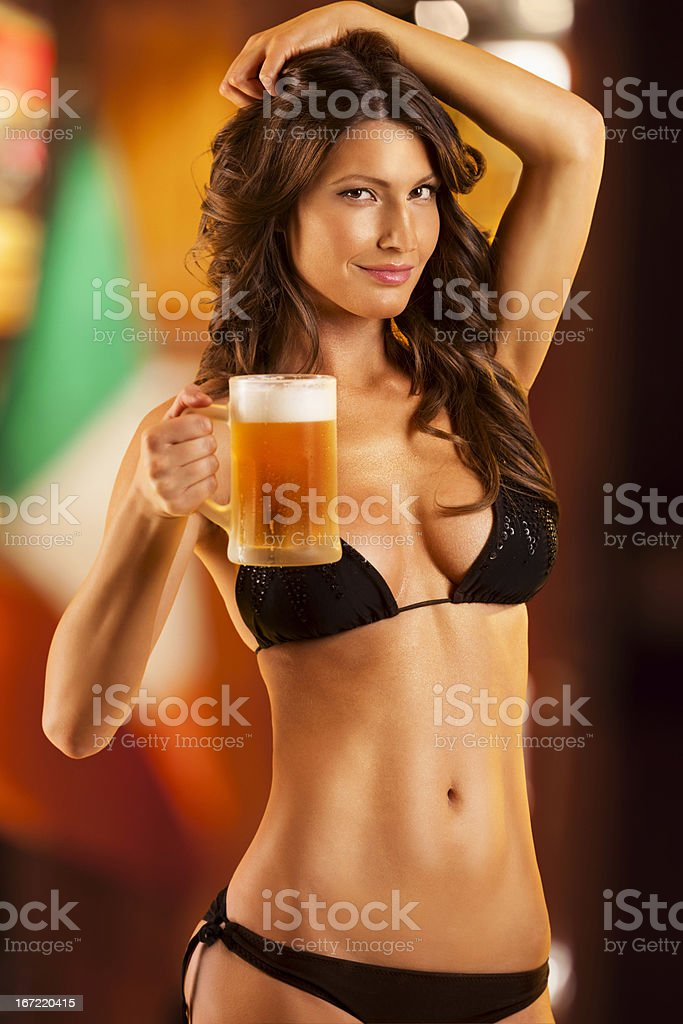 Sexy Beer royalty-free stock photo