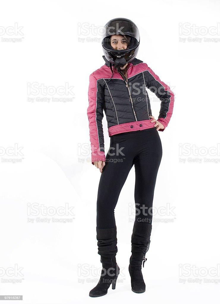 Sexy biker royalty-free stock photo