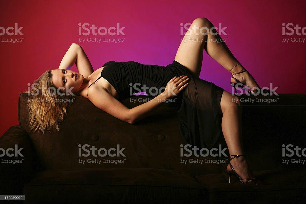 Sexy Black Dress royalty-free stock photo