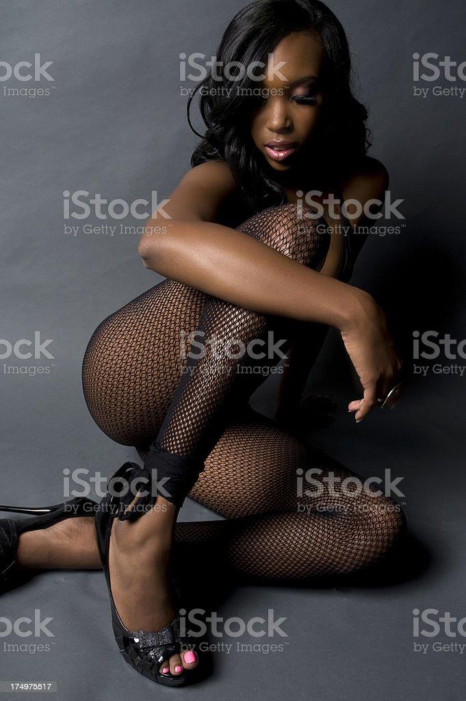 Sexy black female model
