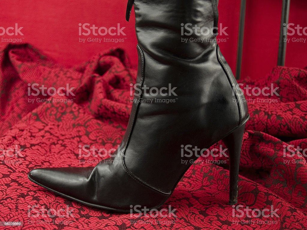 Nero stivale tacco a spillo Sexy foto stock royalty-free