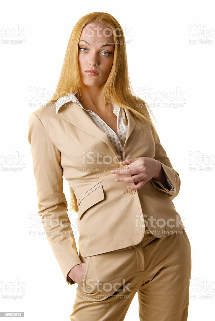 sexy blond girl royalty-free stock photo