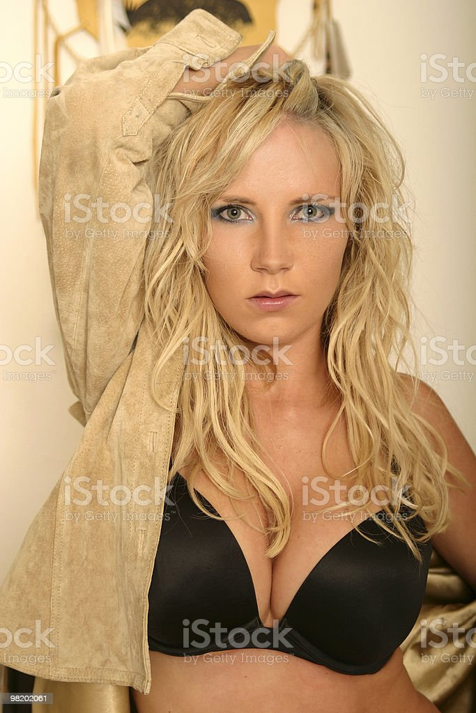 Sexy Blond lingerie model royalty-free stock photo