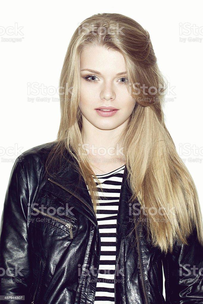 Sexy blonde girl stock photo