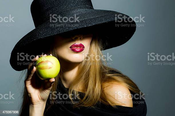 Blonde sexy granny Sexy Blonde Girl With Apple
