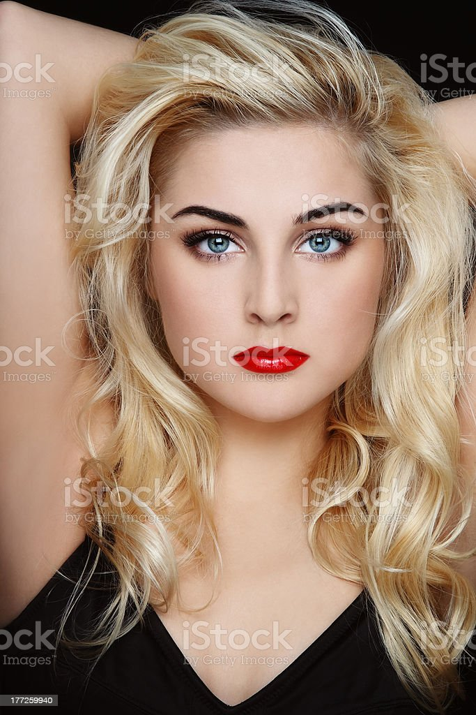 Sexy blonde stock photo