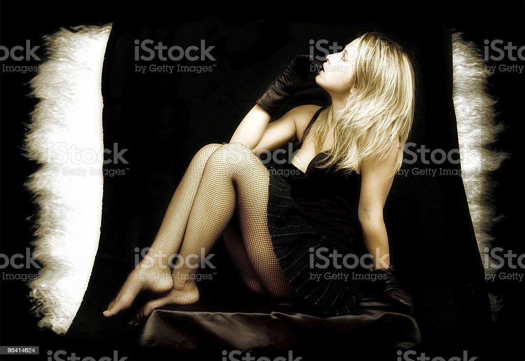 sexy blonde Lizenzfreies stock-foto