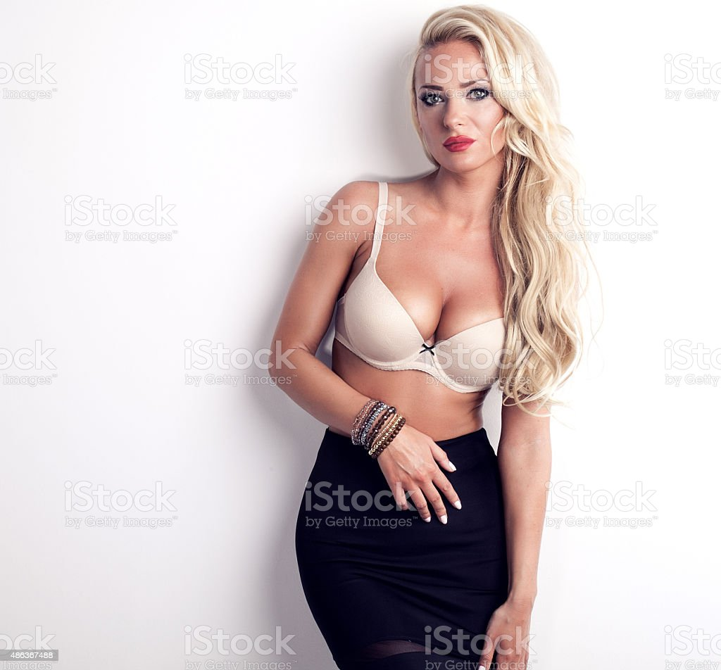 sexy blonde woman in lingerie stock photo & more pictures of 2015