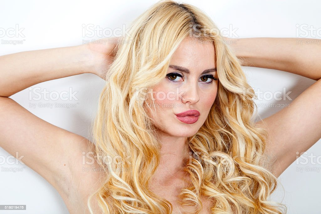 Sexy Blonde Woman. stock photo