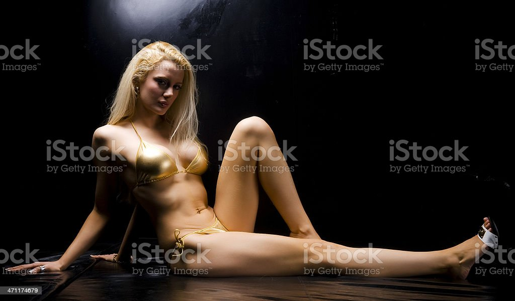 sexy blondie with bikini royalty-free stock photo