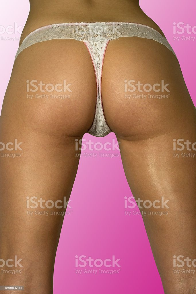 sexy bottom with white panties royalty-free stock photo