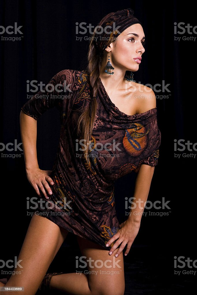 Sexy  brunette royalty-free stock photo