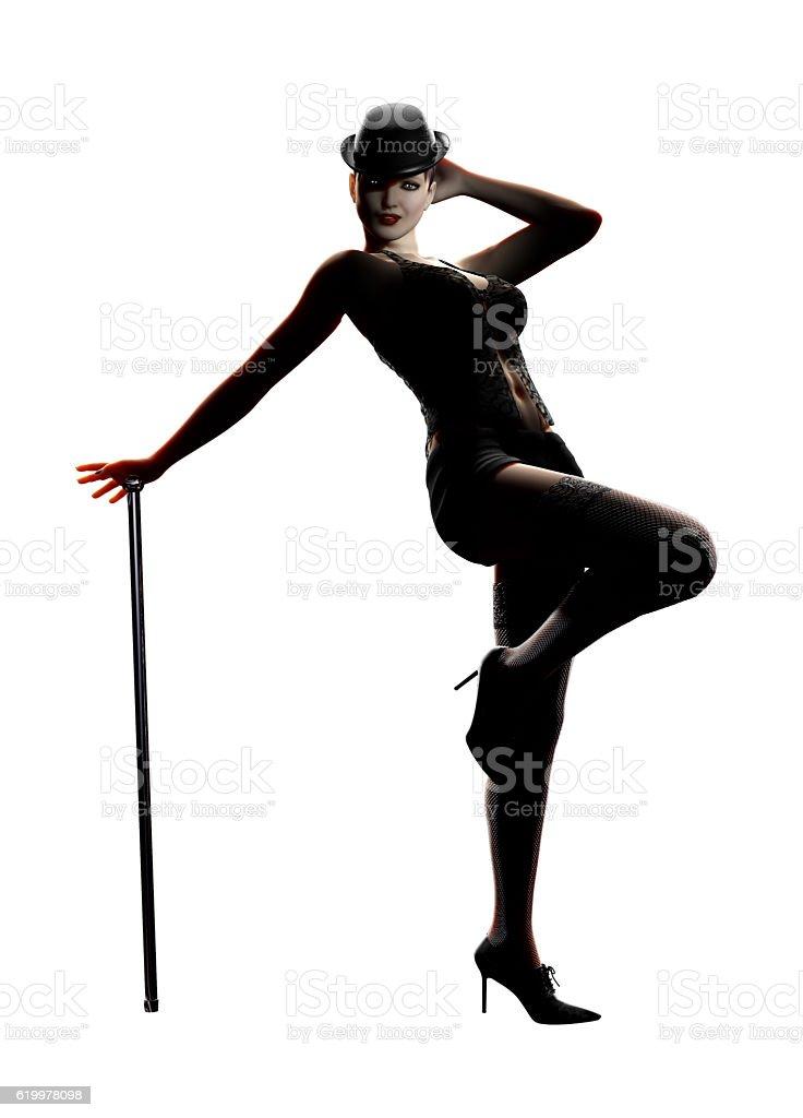 Sexy Cabaret Dancer stock photo