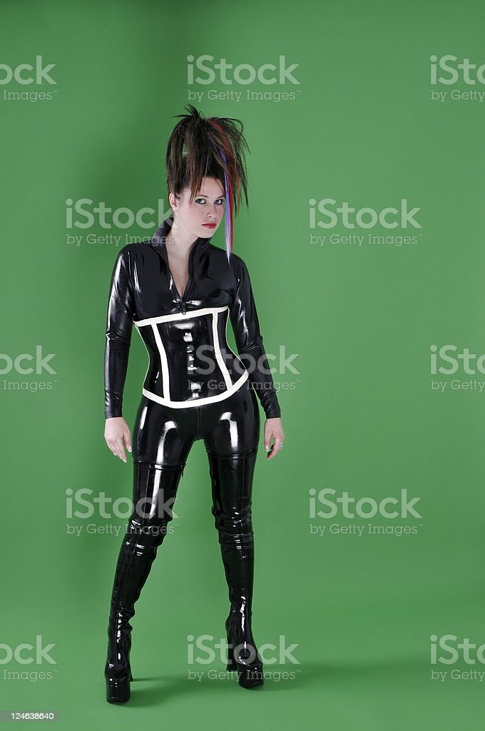 sexy catwoman royalty-free stock photo