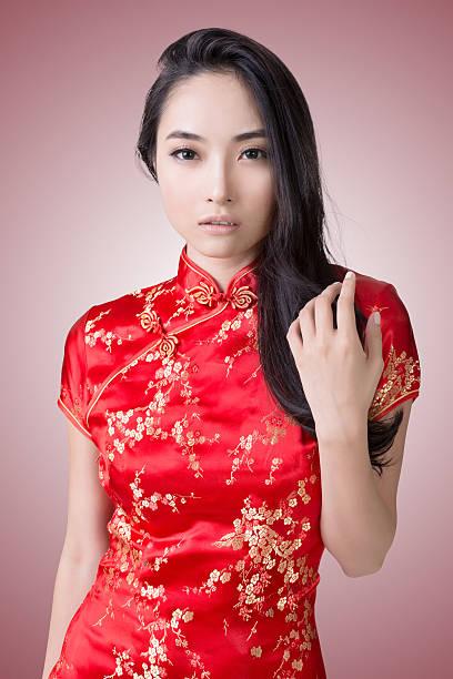 Sexy Chinese woman stock photo