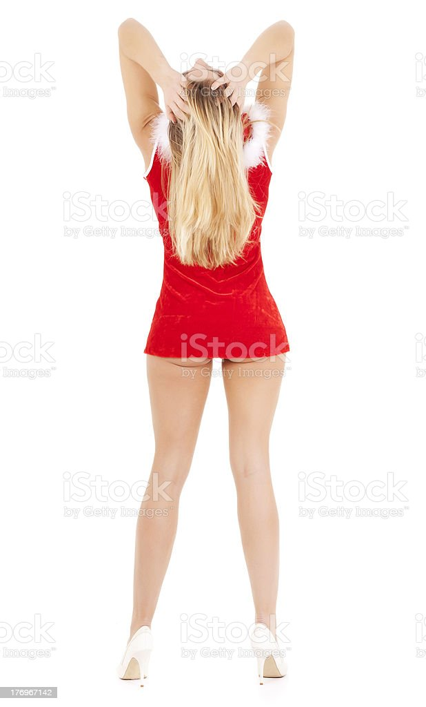 sexy christmas woman stock photo