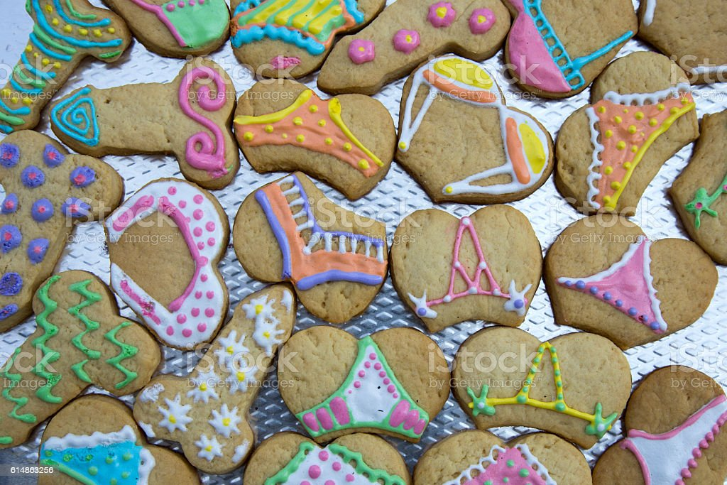 Sexy Cookies for Girls Party - Funny Food - foto de stock