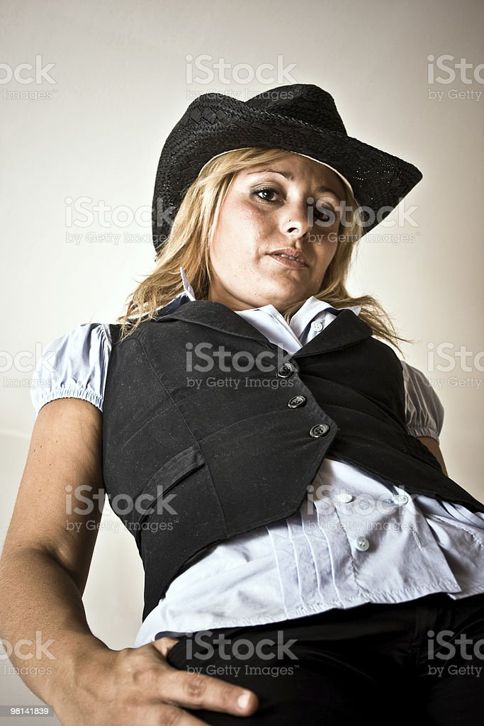 Sexy country girl royalty-free stock photo