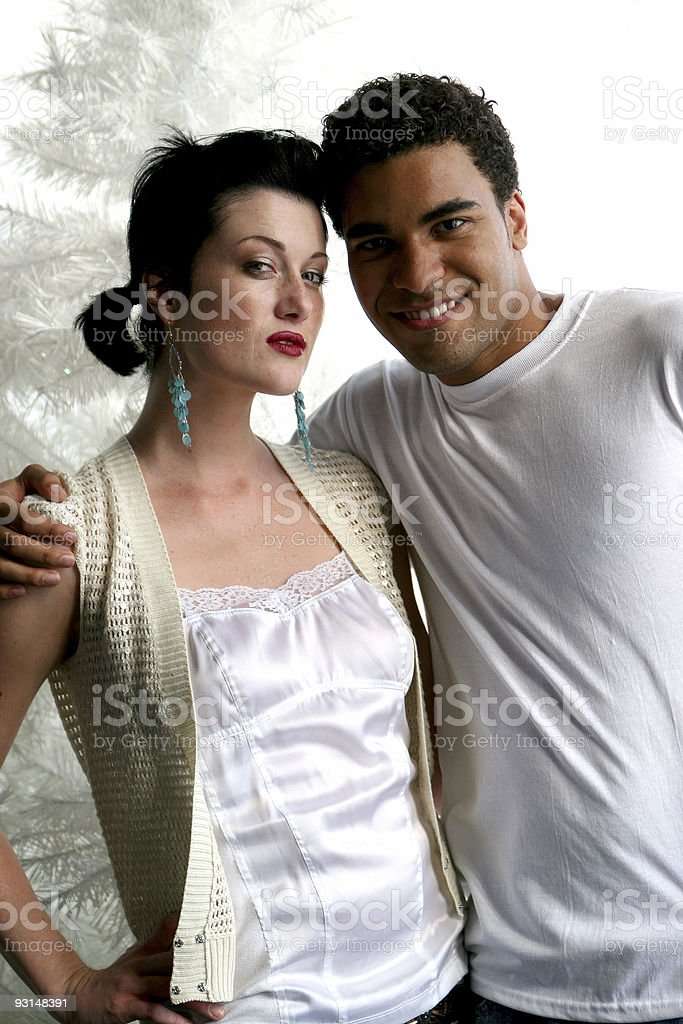 Sexy couple at Christmas. royalty-free stock photo