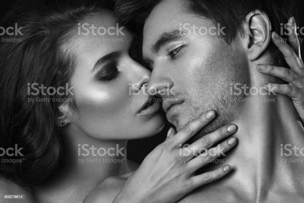 Sexy couple in intimacy relations - Stock image .
