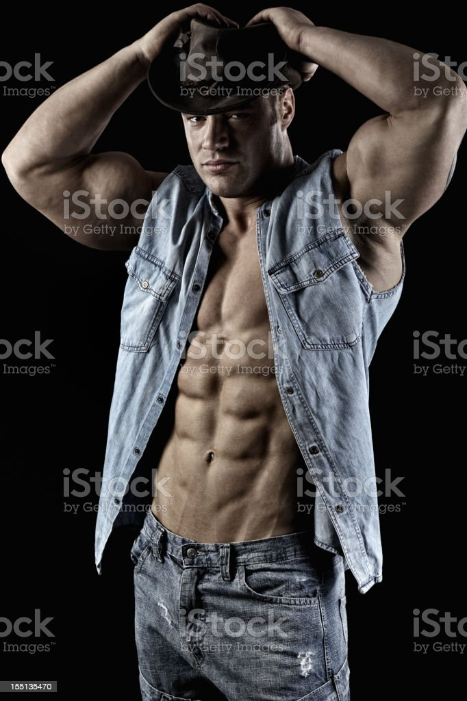 Sexy cowboy royalty-free stock photo
